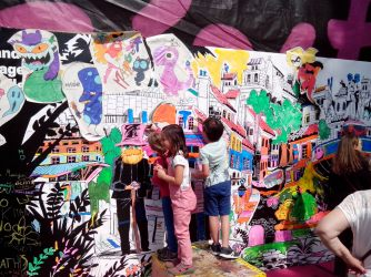 fresque géante festival de BD Aix